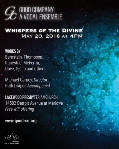Good Company: A Vocal Ensemble Whispers of the Divine
