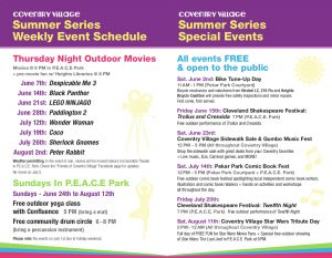 Thursday Night Outdoor Movies (July 19: Coco)