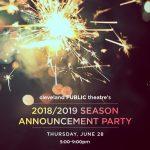 Cleveland Public Theatre's 2018/2019 Season Announcement Party