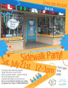 Upcycle Sidewalk Party