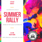 "Playwrights Local's ""Summer Rally"""