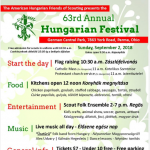63rd annual Hungarian Festival presented by the American Hungarian Friends of Scouting