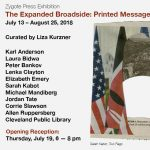 The Expanded Broadside: Opening Reception