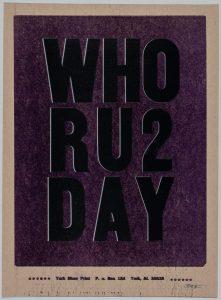 Who RU2 Day: Mass Media and the Fine Art Print