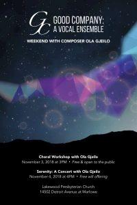 Serenity: A Concert with Ola Gjeilo & Good Company