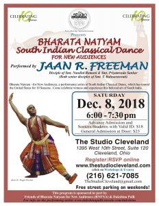The Studio Cleveland host South Indian Classical Dance by Jaan R. Freeman