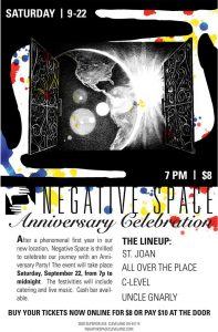 Negative Space Anniversary Celebration