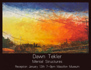 Mental Structures - solo exhibiton in Studio M at Massillon Museum