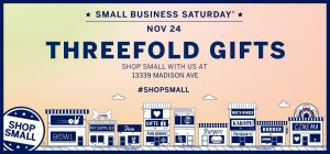 Small Business Saturday at Threefold Gifts with Maker Guests Clear Blur Design