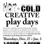 Hot/Cold Creative Play Days