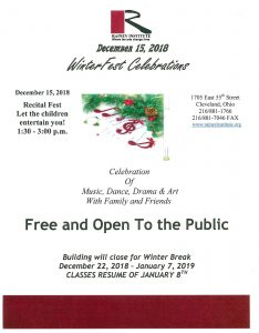 WinterFest Celebration Recital