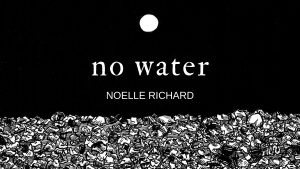 no water | a collection from Noelle Richard