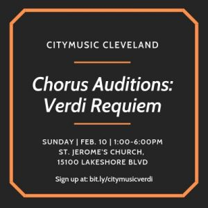 Chorus Auditions for Verdi's Requiem