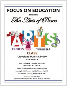 The Arts of Peace Express Yourself Art Class