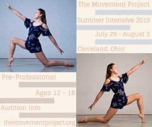 The Movement Project Pre-Professional Summer Intensive 2019 Audition Tour
