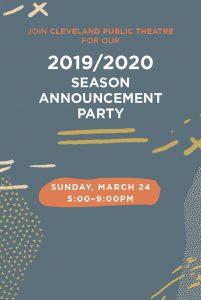 Cleveland Public Theatre's 2019/2020 Season Announcement Party