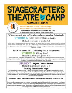 Stagecrafters Theater Camp 2019