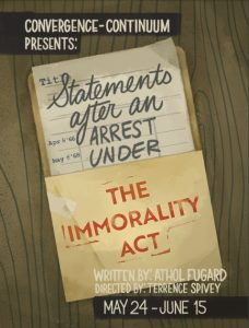 STATEMENTS AFTER AN ARREST UNDER THE IMMORALITY ACT by Athol Fugard