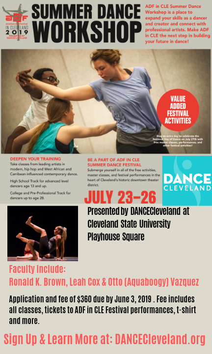 ADF in CLE Summer Dance Workshop presented by DANCECleveland