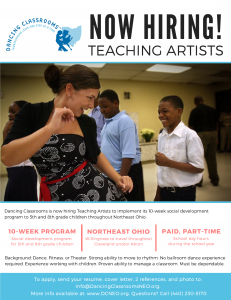 Teaching Artist Job Opportunity (Part-Time)