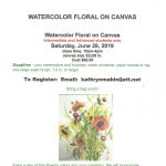 Floral Watercolor on Canvas Class