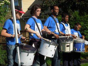 Hands-on Bucket Drumming at Literary Lots