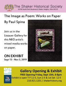 Paul Spina, Image as a Poem: Works on Paper - Opening Reception