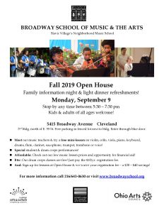 Fall Open House & Family Information Night