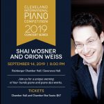 Cleveland International Piano Competition Presents Shai Wosner and Orion Weiss in Concert