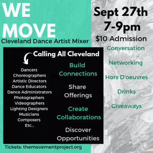 WE MOVE Cleveland Dance Artist Mixer
