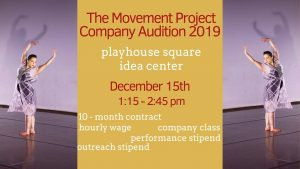 Seeking Professional Dancers for PAID Company & Intern Contracts starting January 2020.