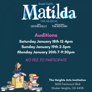 Auditions for Matilda the Musical!