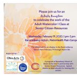 Senior Citizen Resources Adult Watercolor Class Exhibit