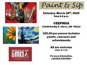 Cancelled - Paint and Sip at EEPMOA