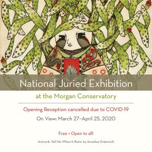 Opening Night: National Juried Exhibition (POSTPONED)