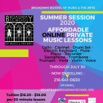 Affordable Summer 2020 Private Online Music Lessons