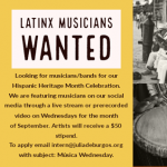 Latinx Musicians/Bands Wanted
