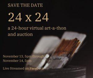 24 x 24: A Virtual Art-a-thon & Auction