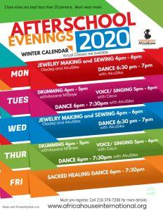 Arts & Culture Studio Winter Schedule
