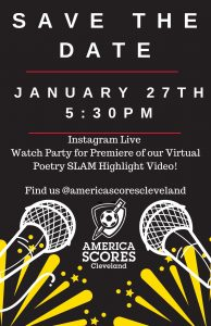 America SCORES Cleveland Virtual Poetry SLAM Watch Party - Instagram Live
