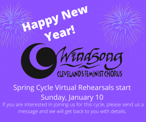 Windsong Spring Cycle Virtual Rehearsals
