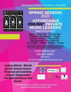 Spring Session: Cleveland Neighborhood-Based Affordable Online Music Lessons
