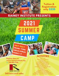 2021 Summer Arts Camp