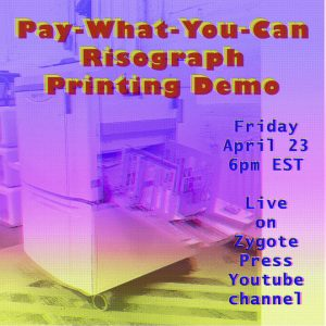 Pay-What-You-Can Risograph Printing Demo