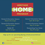 Heritage Home Program Information Session