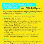 Cedar Fairmount Music & Art Thursday
