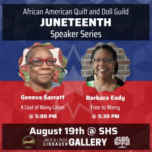 Juneteenth Speaker Series: Geneva Sarratt & Barbara Eady