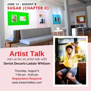 SUGAR (CHAPTER II): Artist Talk