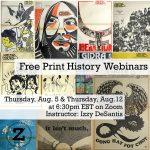 Free Print History Webinars