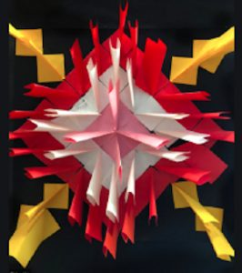 3D Radial Symmetry Paper Sculpture Zoom Workshop, Grades 1-6